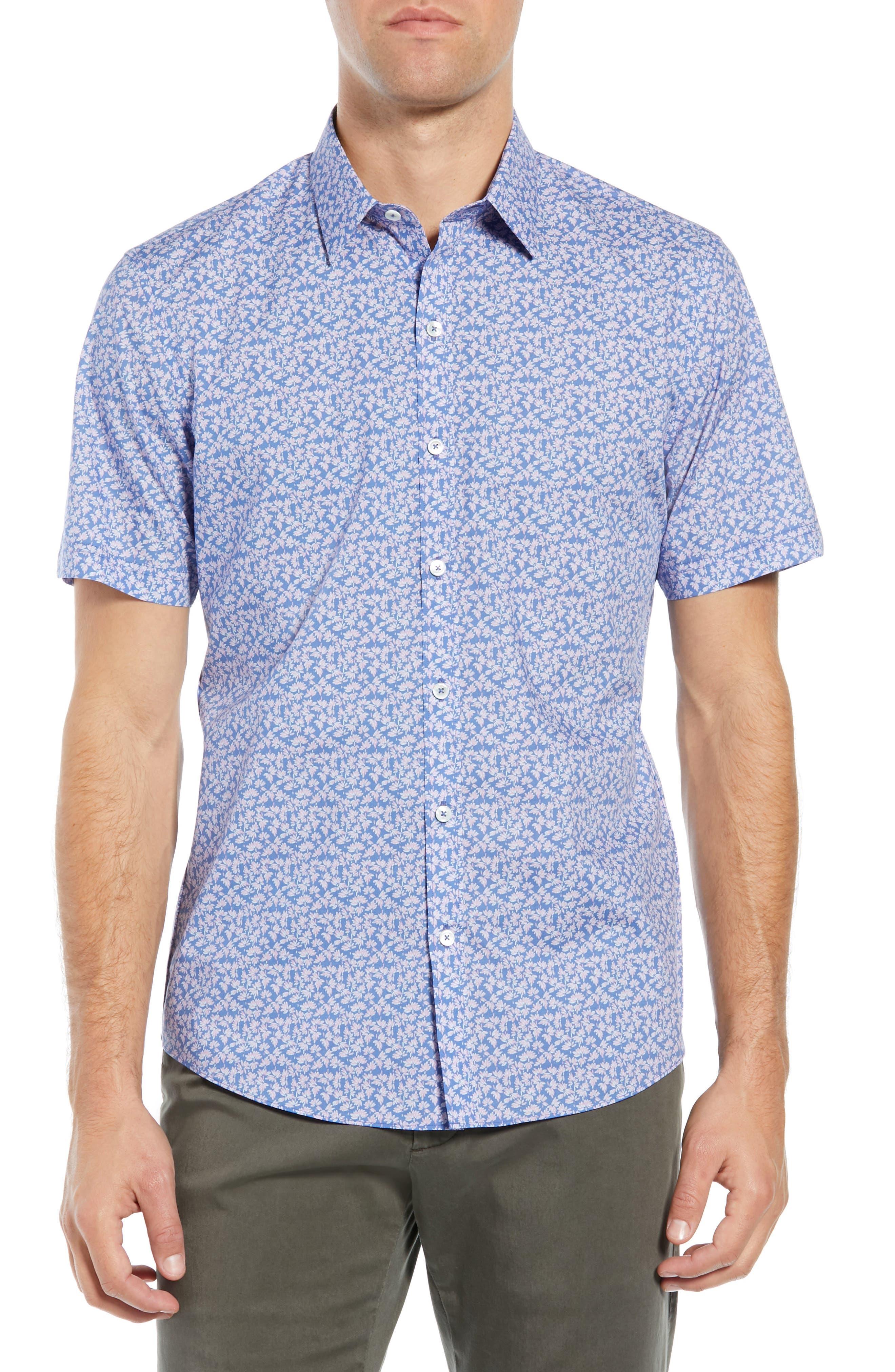Wadley Regular Fit Print Sport Shirt, Main, color, 500