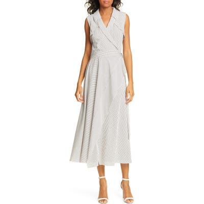 Dvf Charleigh Midi Wrap Dress, White