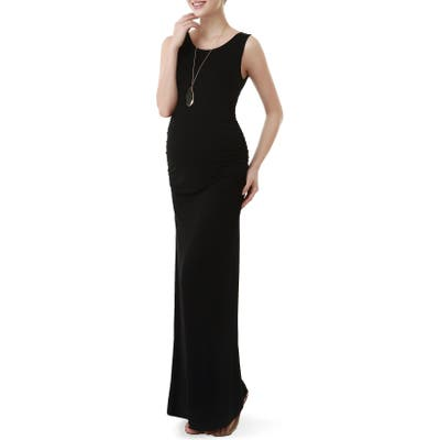 Kimi And Kai Maternity Maxi Tank Dress, Black