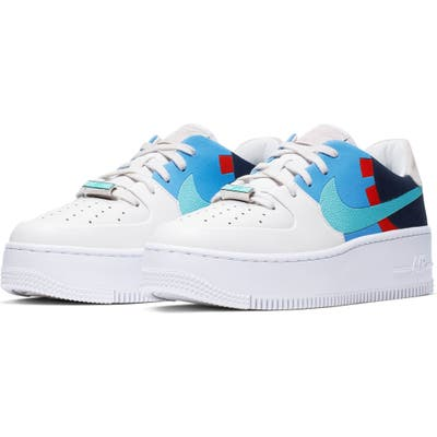 Nike Air Force 1 Sage Low Colorblock Sneaker, Blue