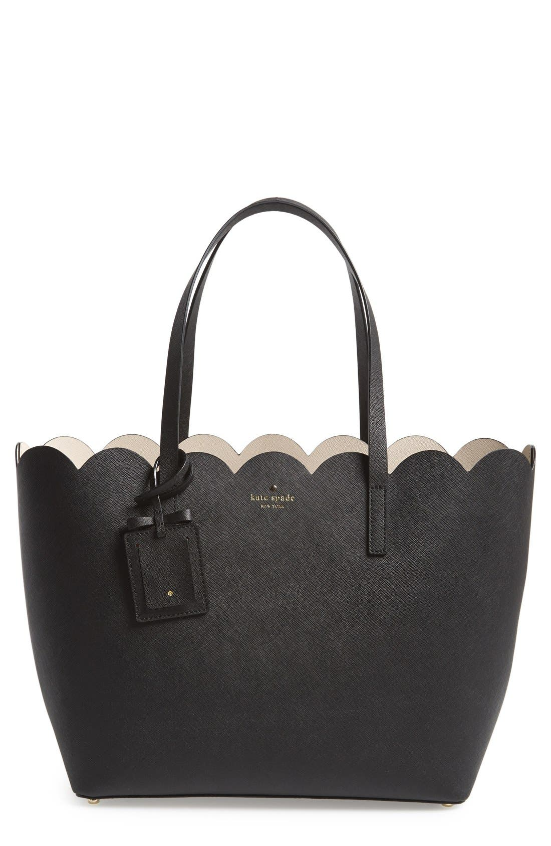 'lily avenue - carrigan' leather tote, Main, color, 019