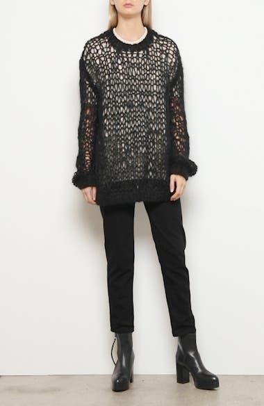 Layered Hand Knit Wool & Silk Sweater, video thumbnail