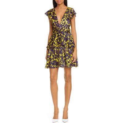 A.l.c. Viera Print Silk Dress, Yellow