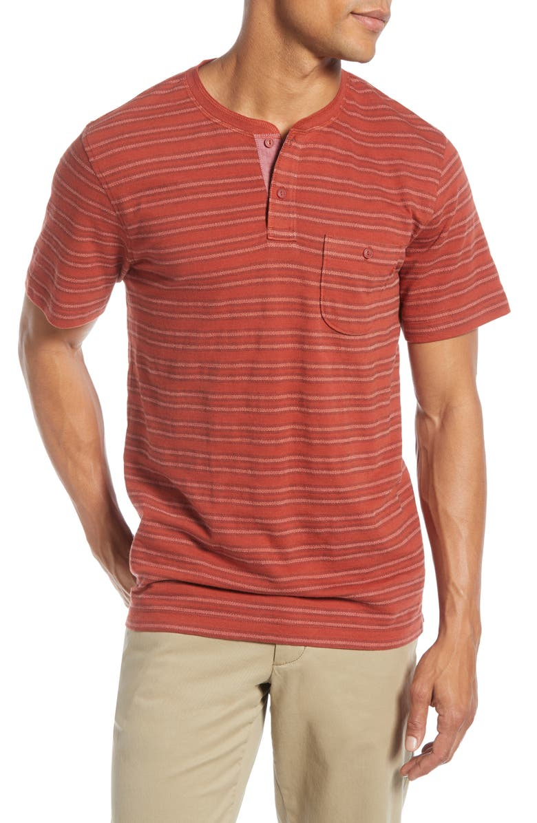 1901 Stripe Pocket Slim Fit Henley, Main, color, 610