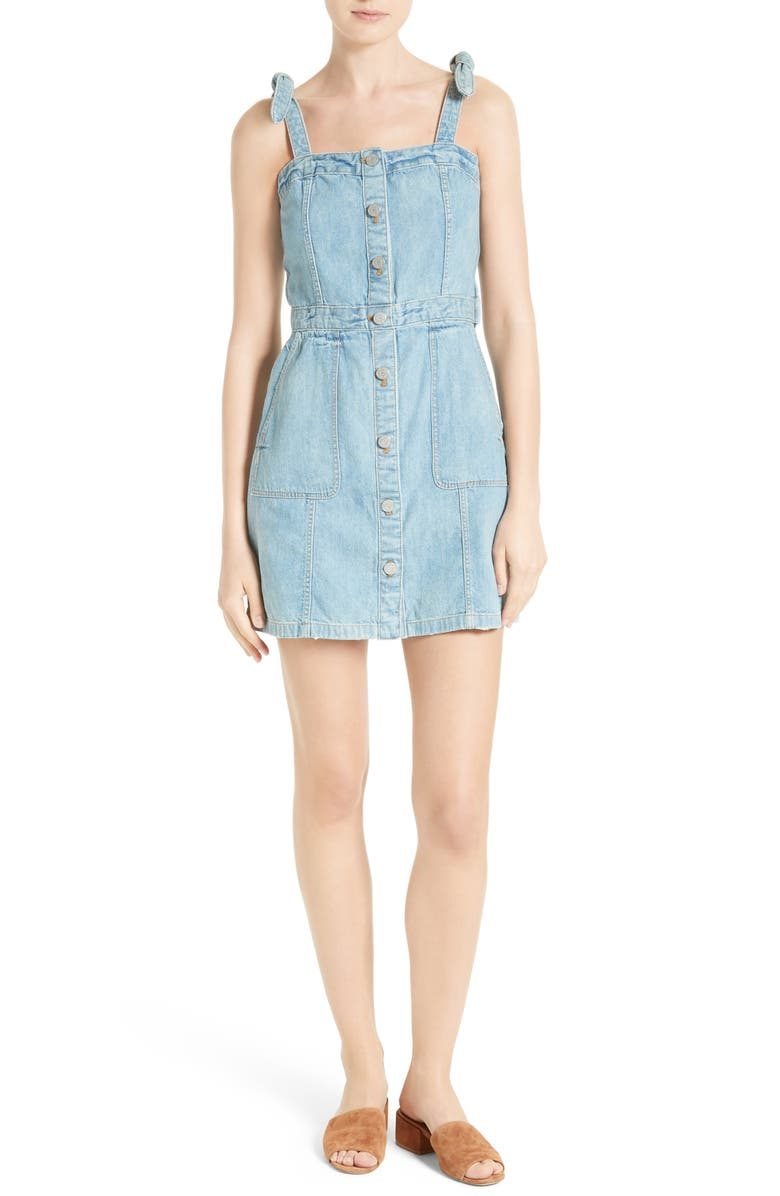 LA VIE REBECCA TAYLOR Denim Dress, Main, color, 462