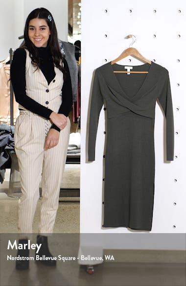 Twist Front Long Sleeve Sweater Dress, sales video thumbnail