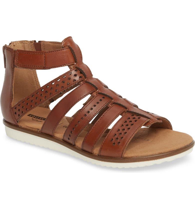 CLARKS<SUP>®</SUP> Kele Lotus Sandal, Main, color, 250