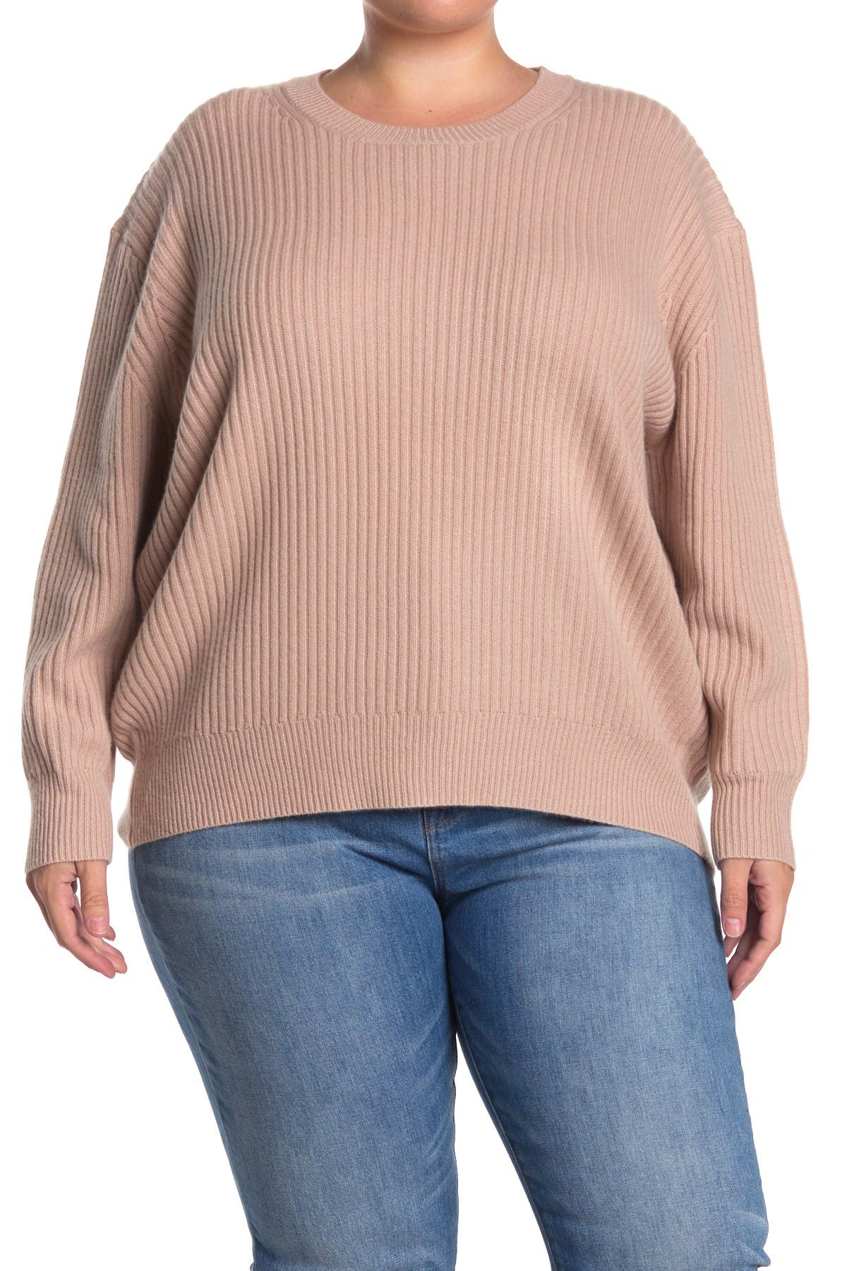Image of Naked Cashmere Olive Ribbed Cashmere Sweater
