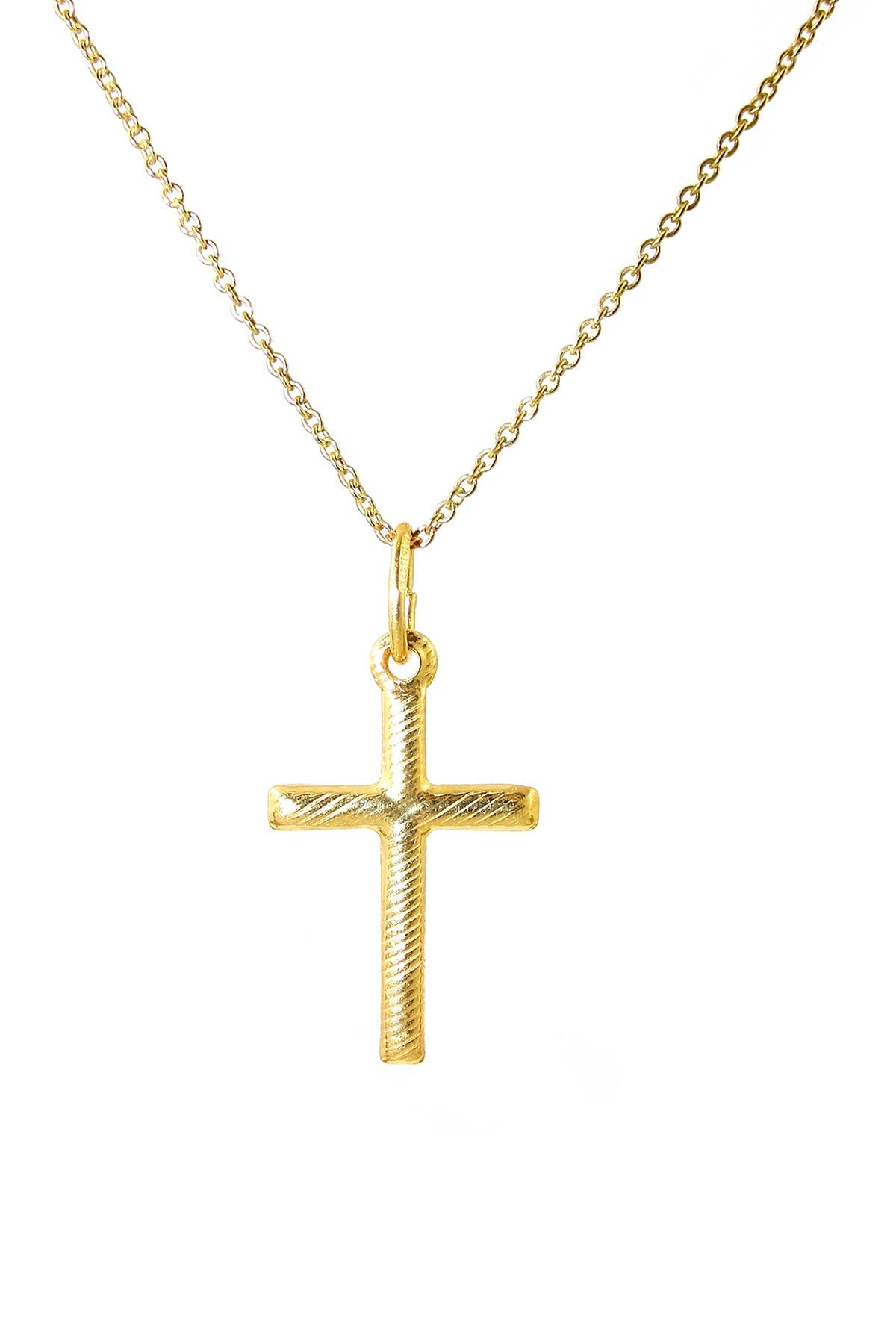 Image of Savvy Cie 18K Gold Vermeil Italian Design Cross Pendant Necklace