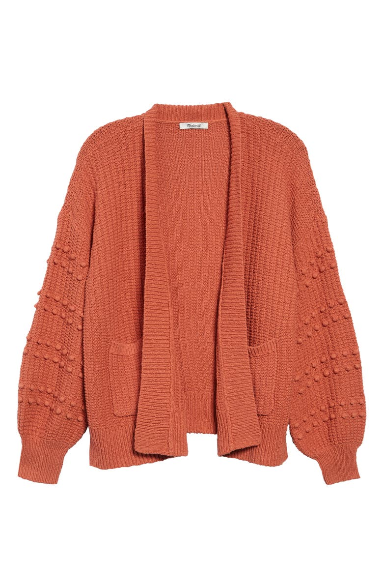 MADEWELL Bobble Cardigan Sweater, Main, color, 650