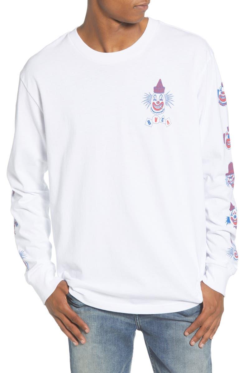 RVCA Big Top Long Sleeve T-Shirt, Main, color, 100