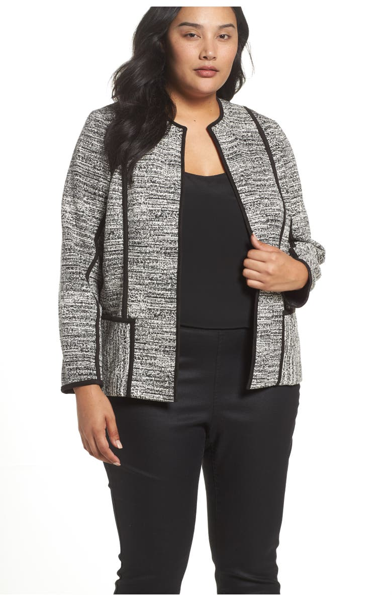 FOXCROFT Devi Double Knit Collarless Jacket, Main, color, 004