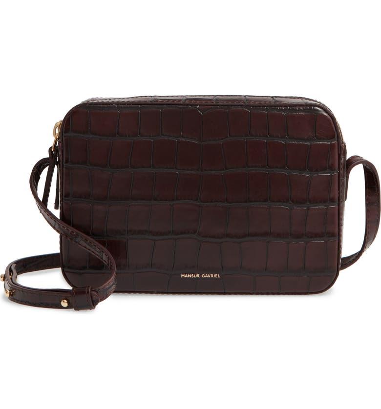 MANSUR GAVRIEL Double Zip Leather Crossbody Bag, Main, color, CLASSIC