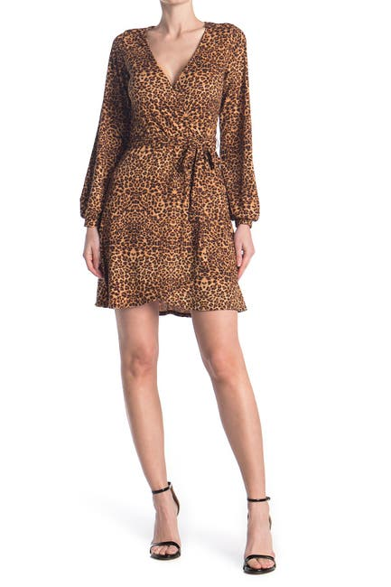 Image of KENEDIK Animal Printed Surplice Dress