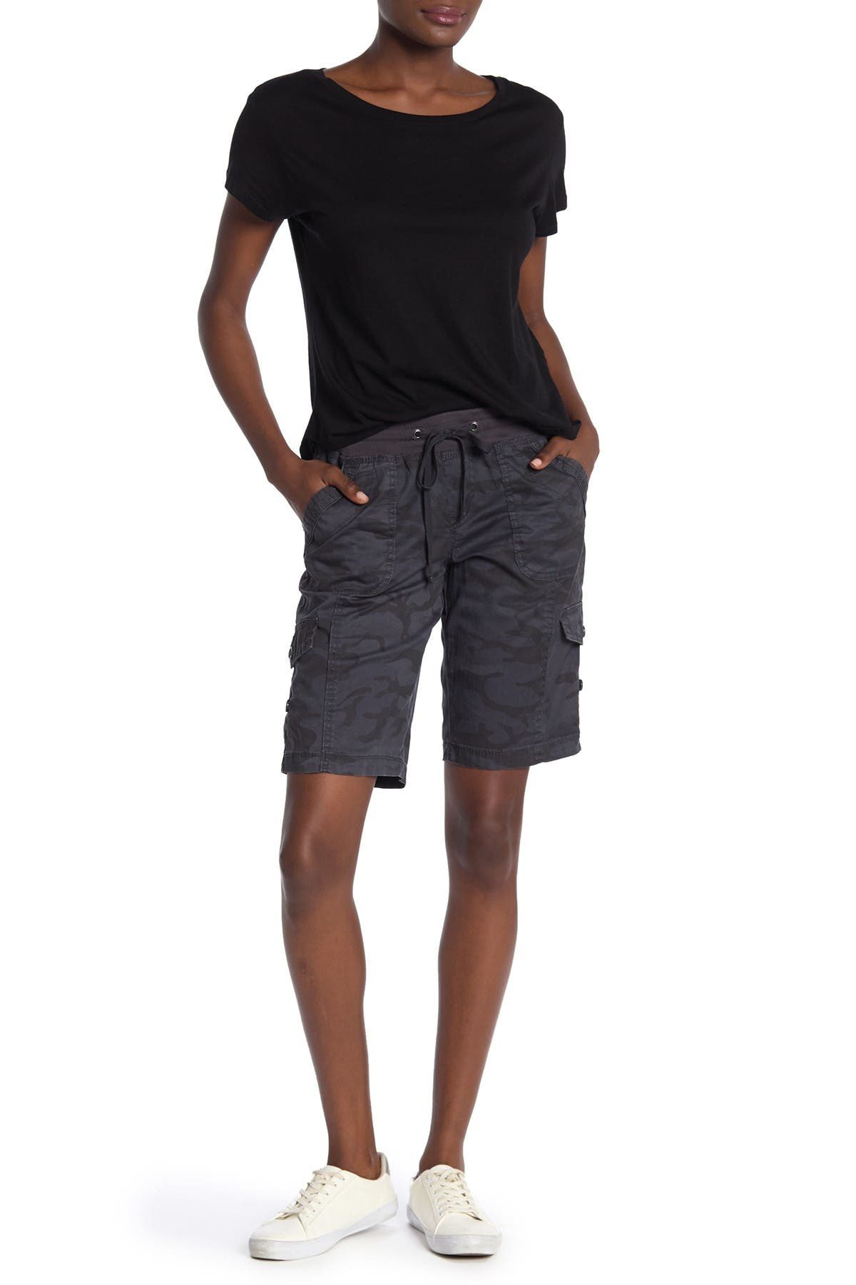 Image of SUPPLIES BY UNIONBAY Betsey Camo Bermuda Shorts