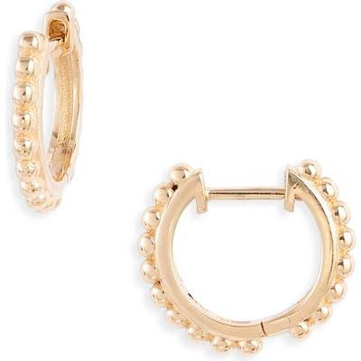 Anzie Dew Drop Huggie Hoop Earrings