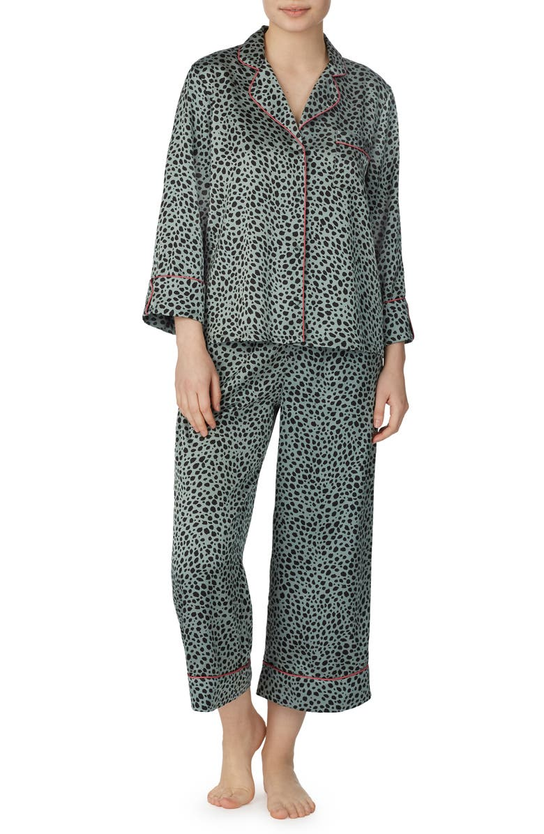 KATE SPADE NEW YORK crop pajamas, Main, color, WILDEST DREAMS