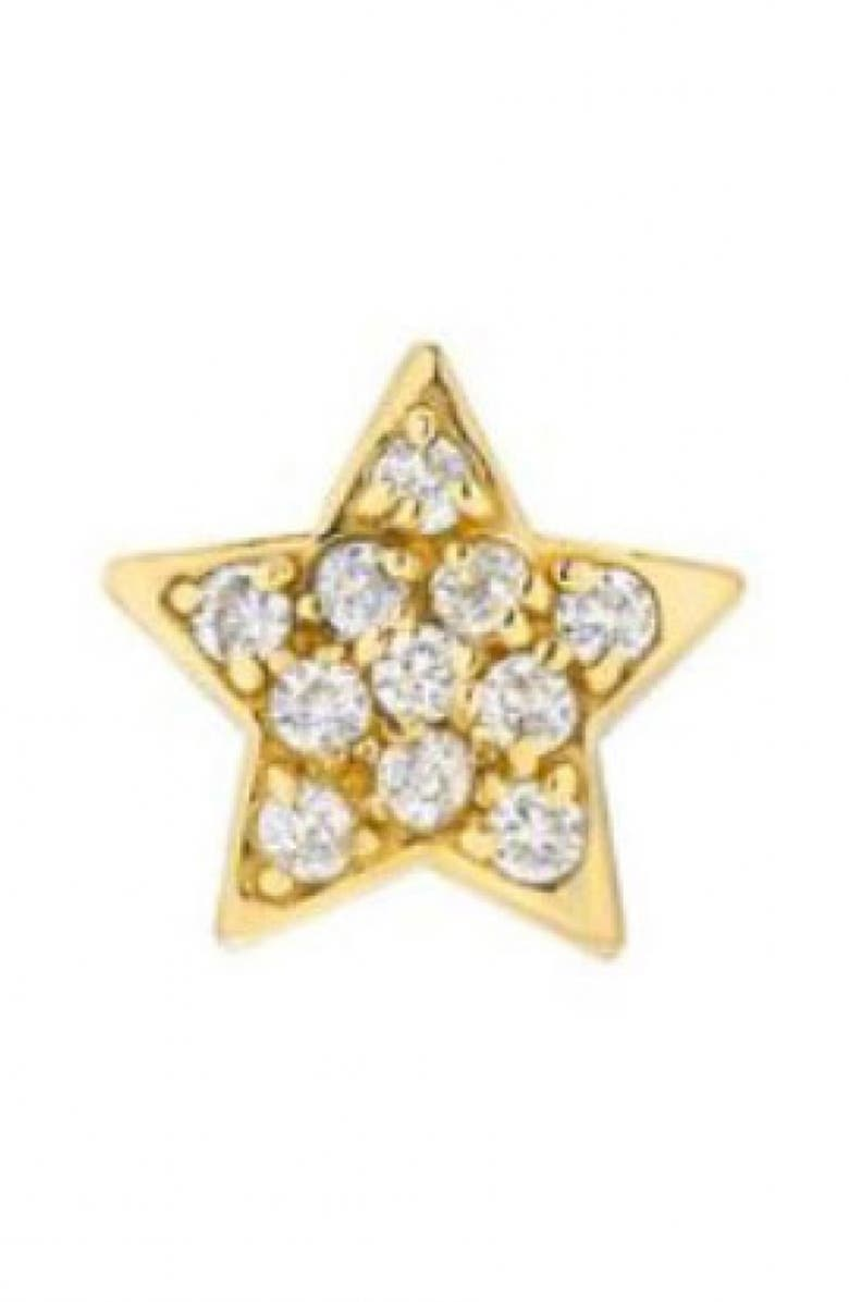 MINI MINI JEWELS Diamond Icon Star Cluster Earring, Main, color, YELLOW GOLD