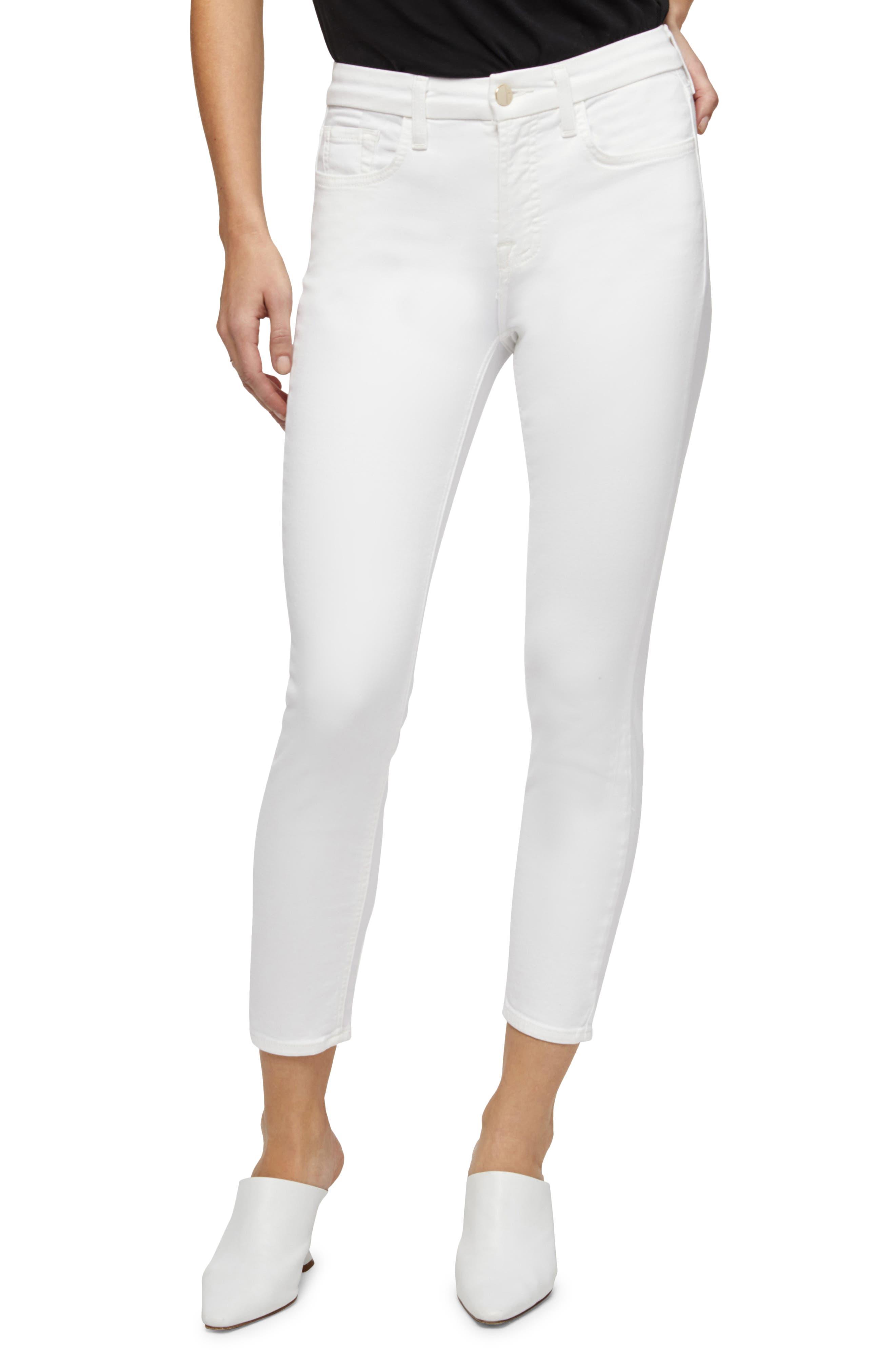 High Waist Crop Skinny Jeans