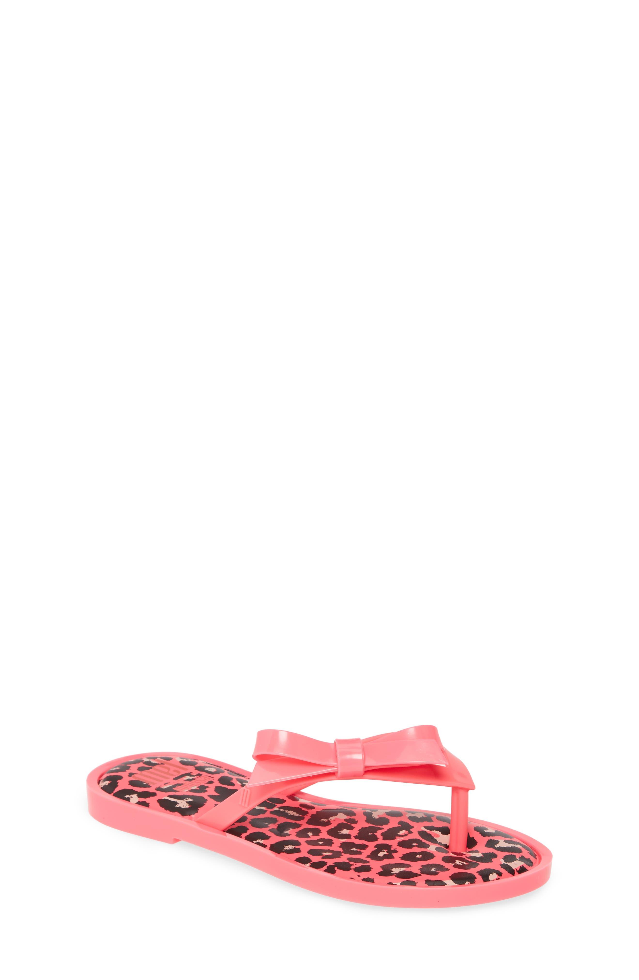 Toddler Girls Mel By Melissa Bow Flip Flop Sandal Size 12 M  Pink
