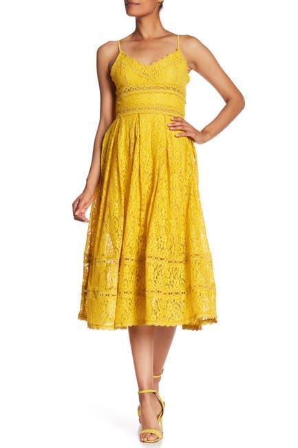 Image of NSR Sleeveless Lace Midi Dress