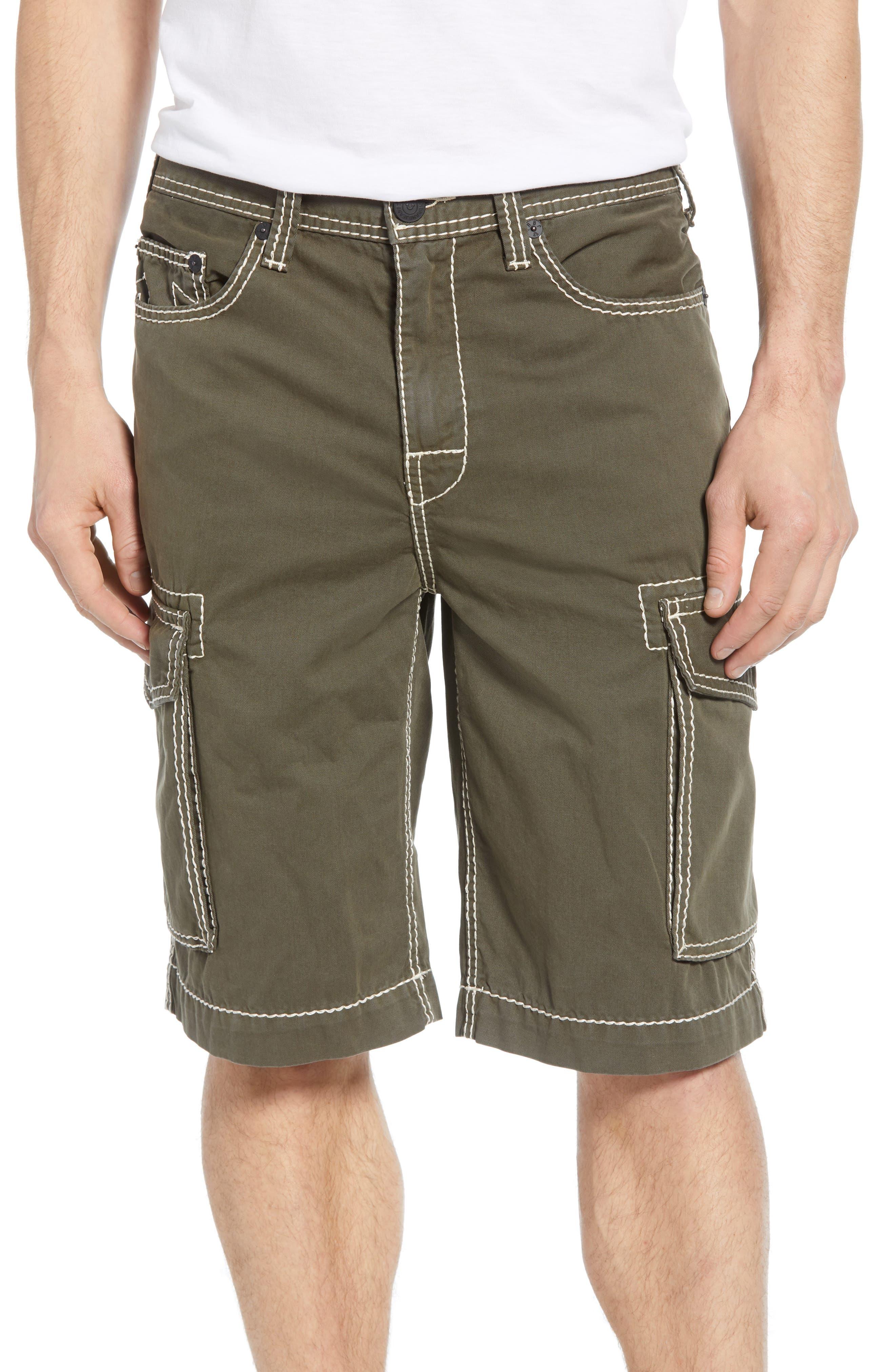 True Religion Brand Jeans Cargo Shorts, Green