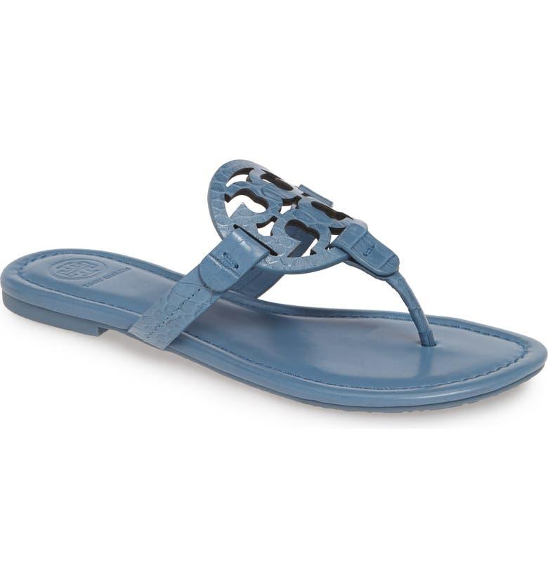 TORY BURCH Miller Flip Flop, Main, color, BLUE YONDER