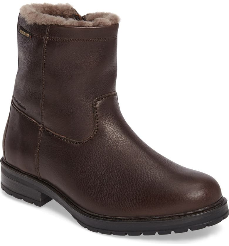 MEPHISTO Leonardo Genuine Shearling Lined Boot, Main, color, DARK BROWN MONTANA
