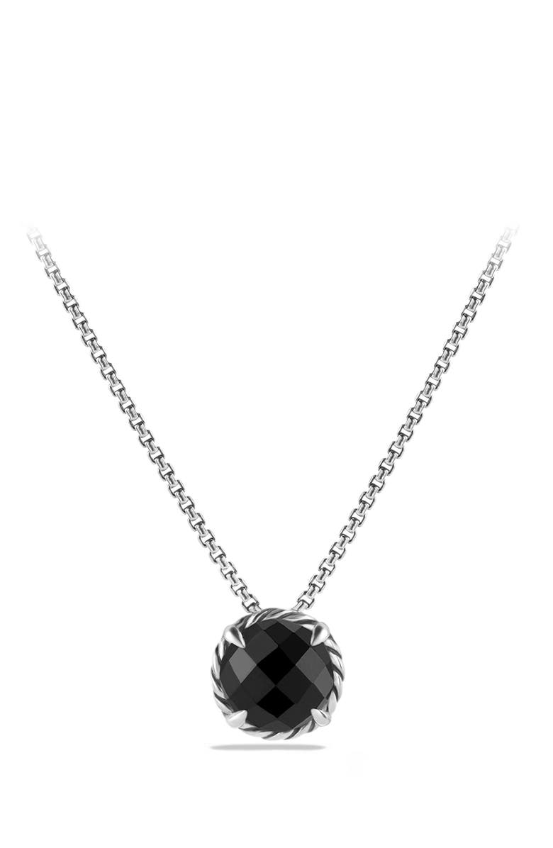 DAVID YURMAN 'Châtelaine' Pendant Necklace, Main, color, BLACK ONYX