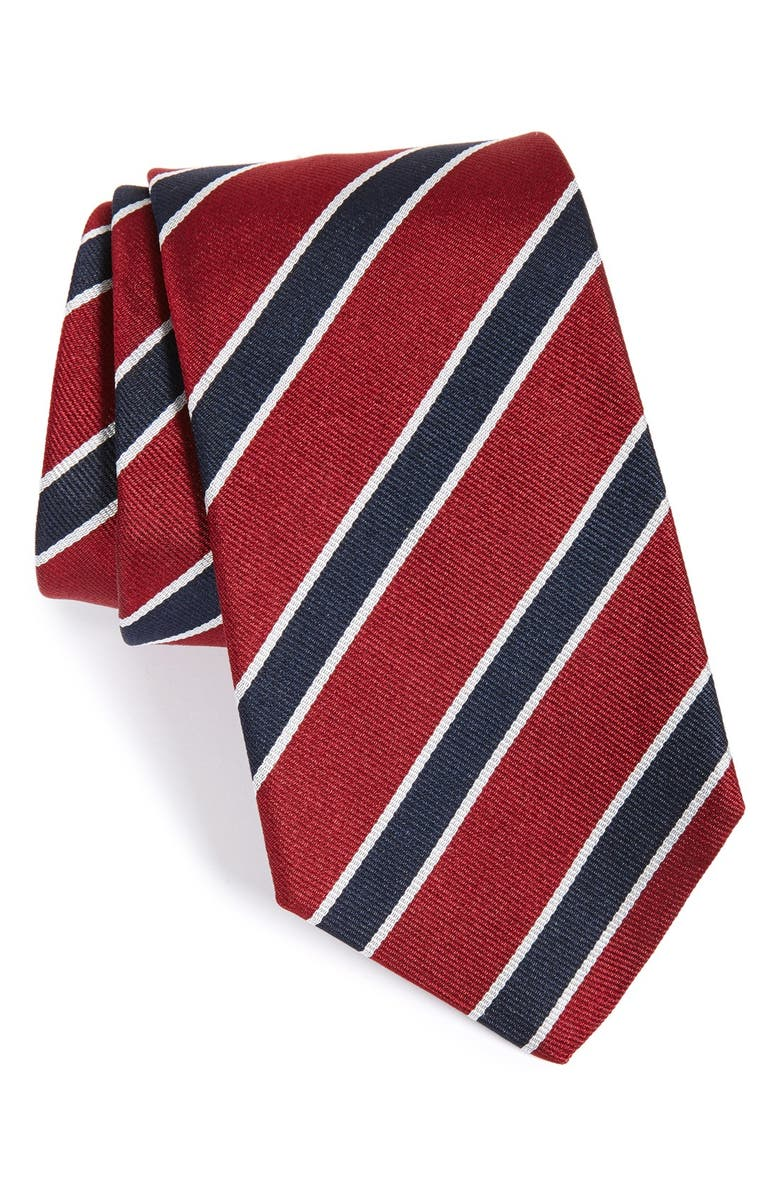 GITMAN Stripe Silk Tie, Main, color, 930
