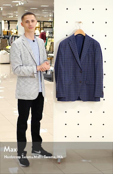 Arnold Classic Fit Plaid Wool Sport Coat, sales video thumbnail
