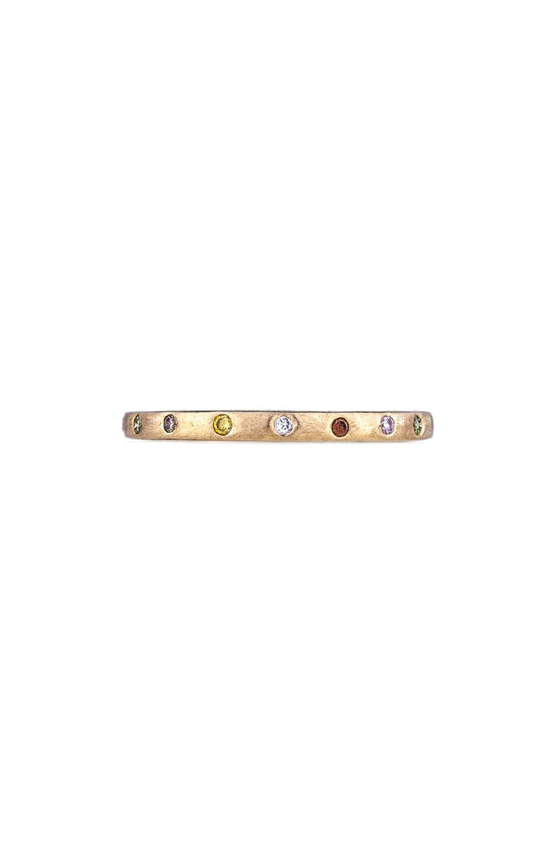 SETHI COUTURE Dunes Diamond Stacking Band Ring, Main, color, GOLD/ DIAMOND