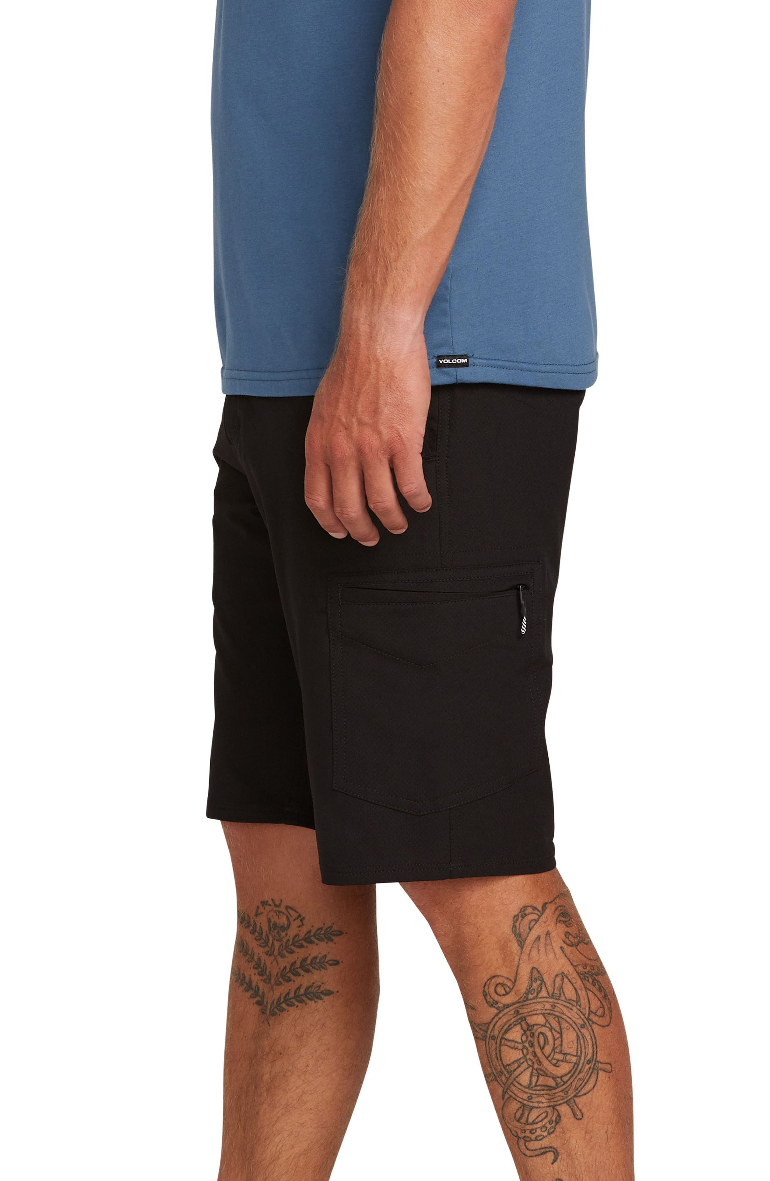 ,                             Surf N' Turf Dry Hybrid Cargo Shorts,                             Alternate thumbnail 3, color,                             BLACK OUT
