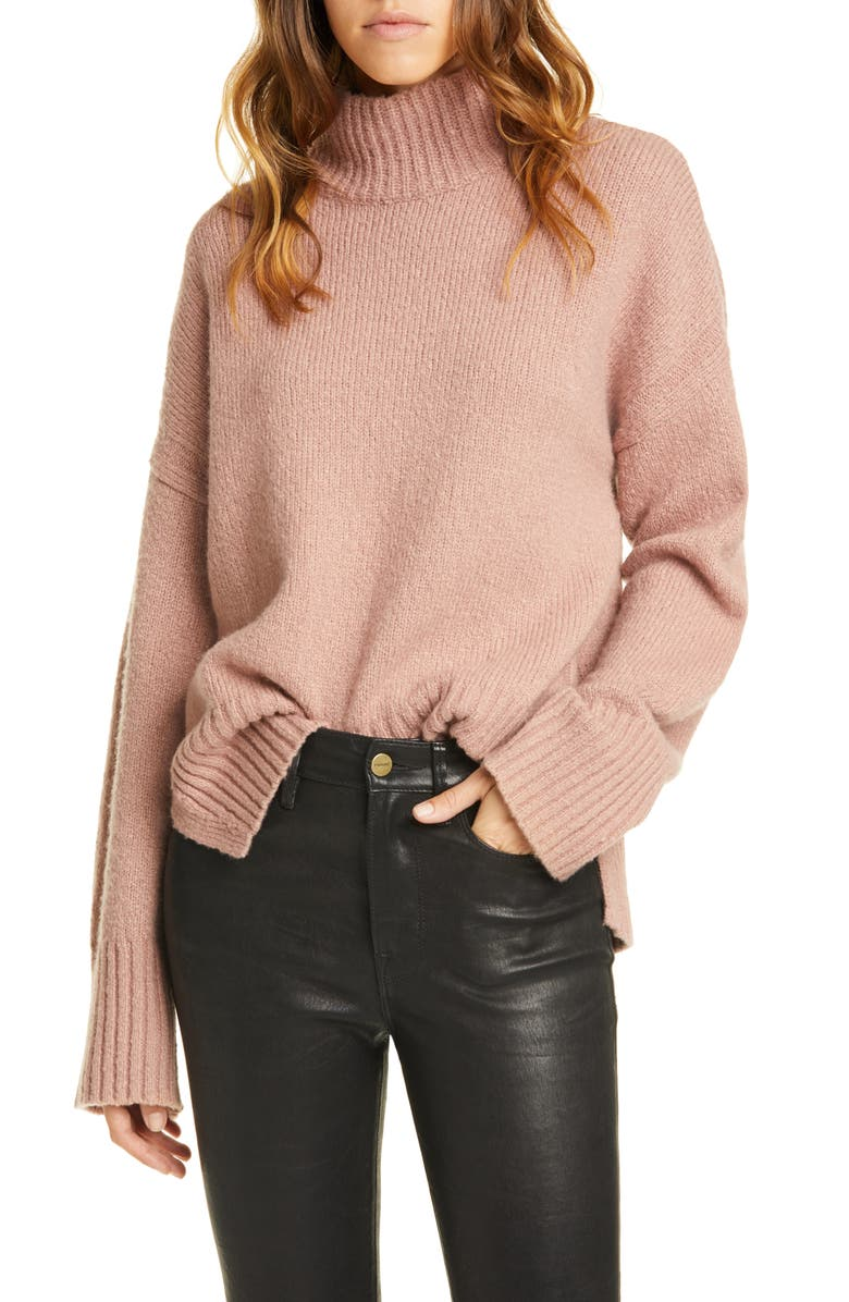 FRAME High/Low Wool Blend Sweater, Main, color, 600