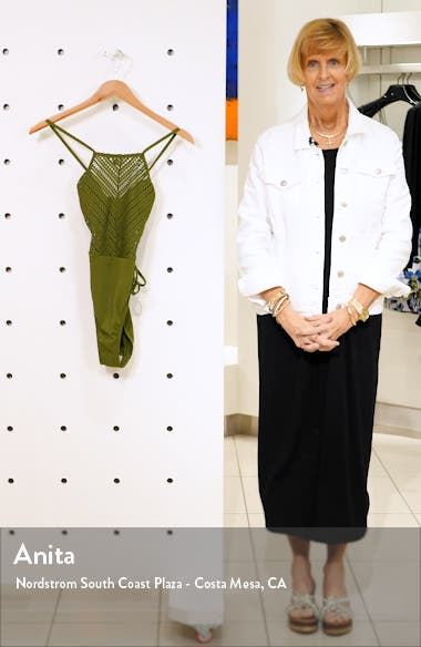 Perla High Neck One-Piece Swimsuit, sales video thumbnail