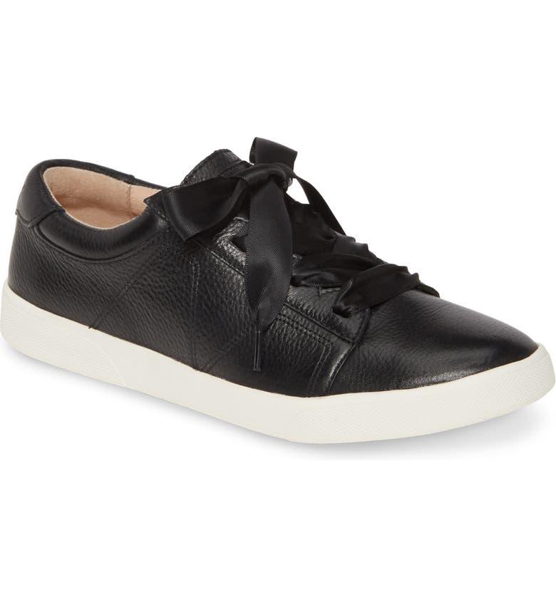 VIONIC Chantelle Sneaker, Main, color, BLACK LEATHER