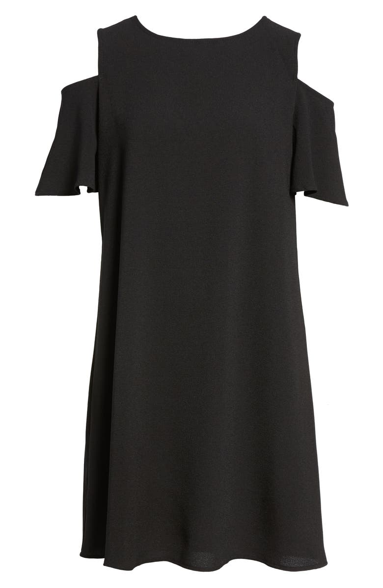 BOBEAU Cold Shoulder Shift Dress, Main, color, 001