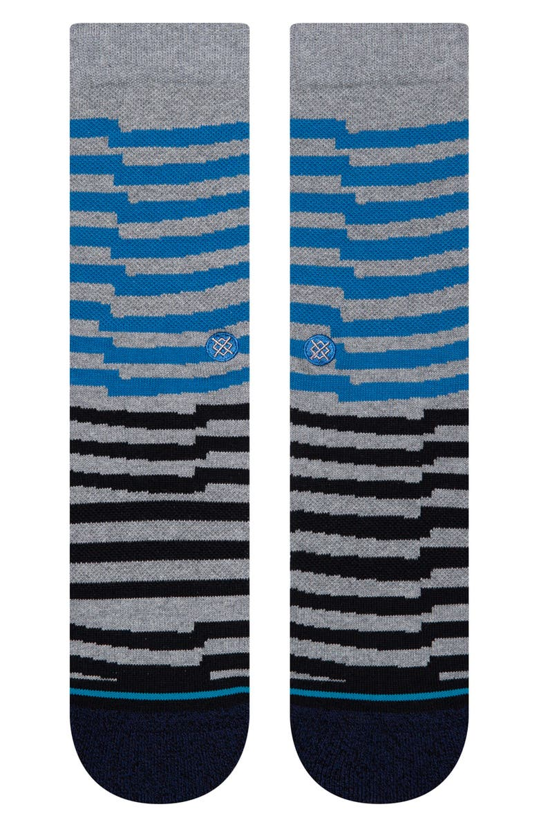 STANCE Breakdown Stripe Crew Socks, Main, color, 420