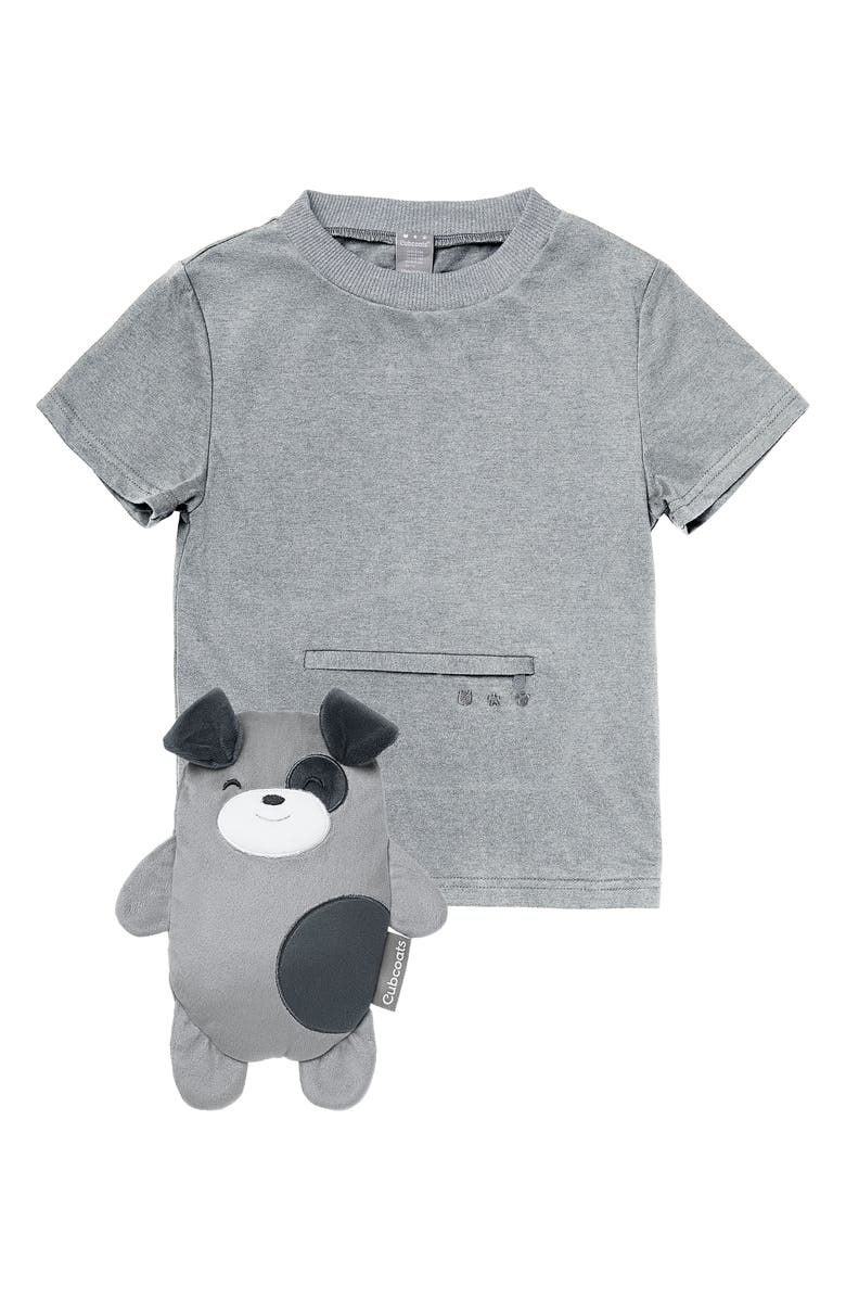 CUBCOATS Pimm the Puppy 2-in-1 Stuffed Animal T-Shirt, Main, color, GREY MARL MIX