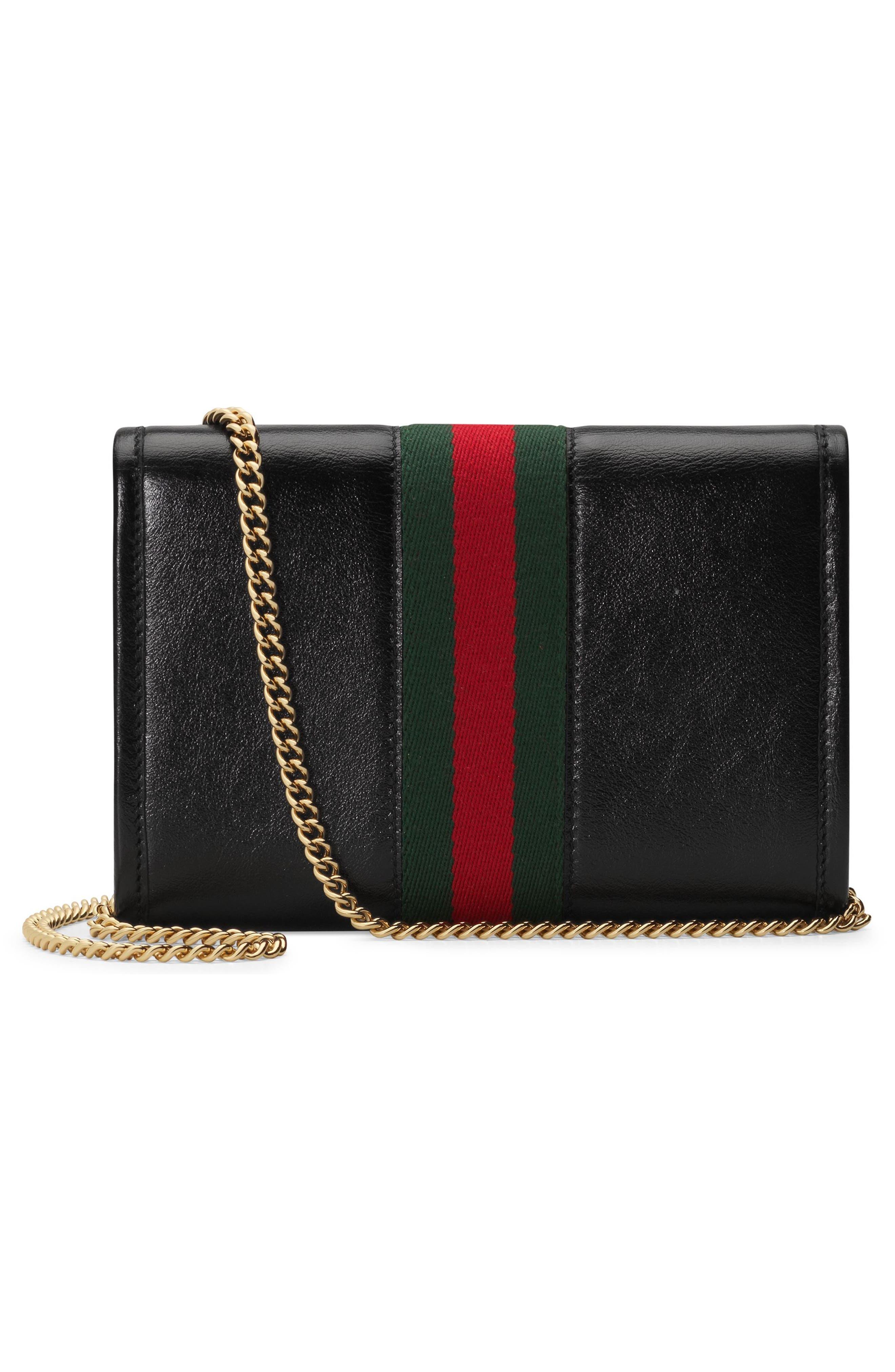 ,                             Mini Rajah Leather Crossbody Bag,                             Alternate thumbnail 2, color,                             NERO/ VERT RED MULTI