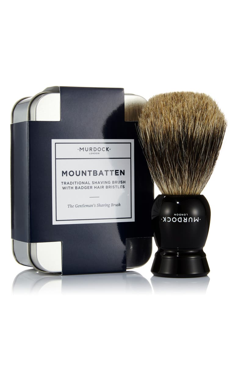 MURDOCK LONDON Mountbatten Shaving Brush, Main, color, NO COLOR