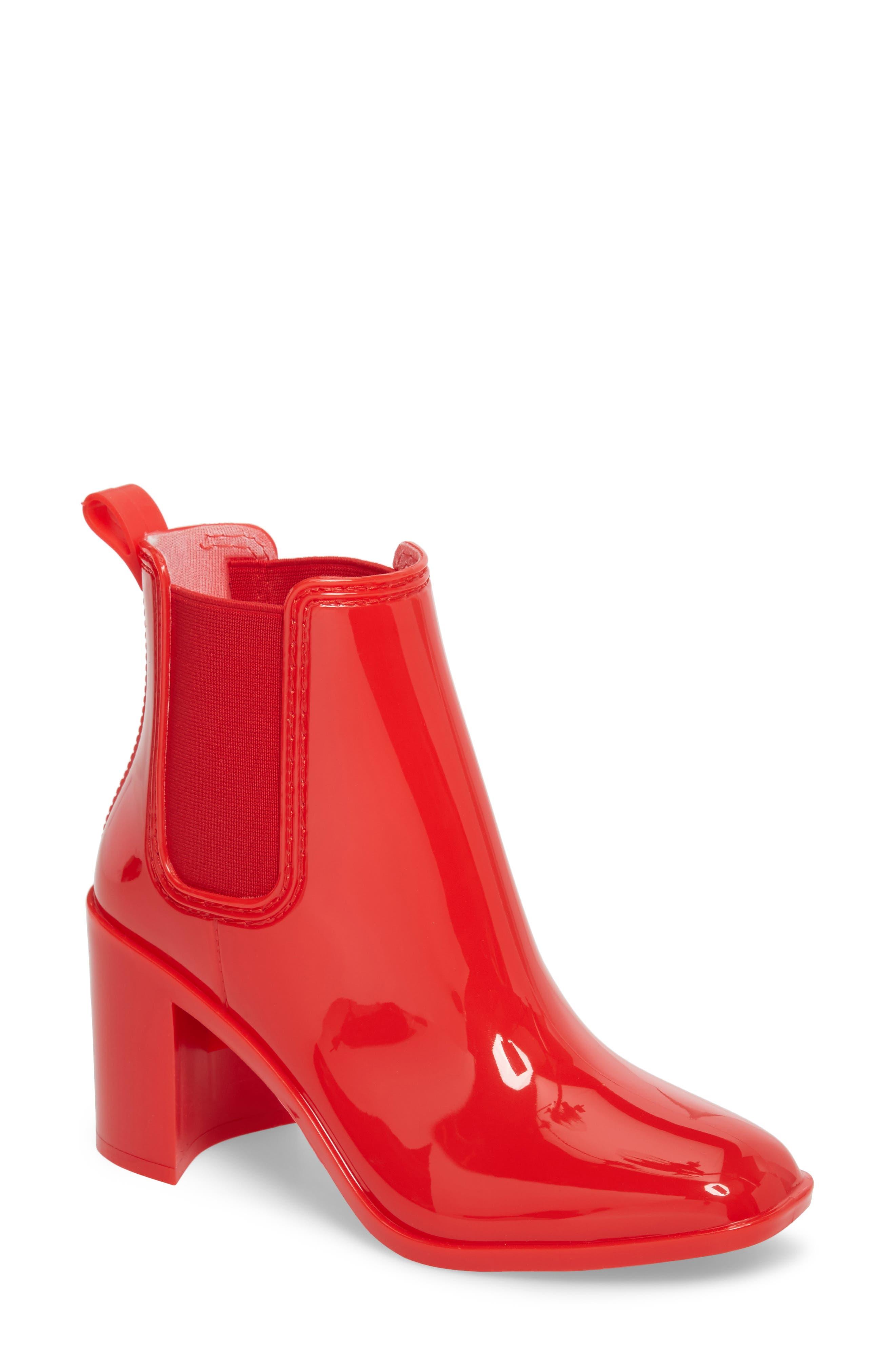 Jeffrey Campbell Hurricane Waterproof Boot, Red
