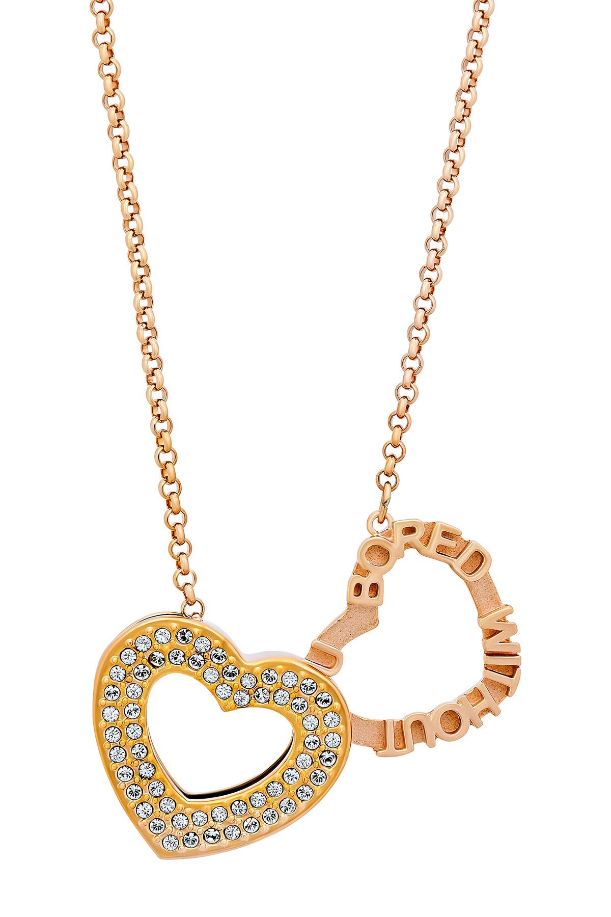 Image of Swarovski 18K Rose Gold Admiration Necklace