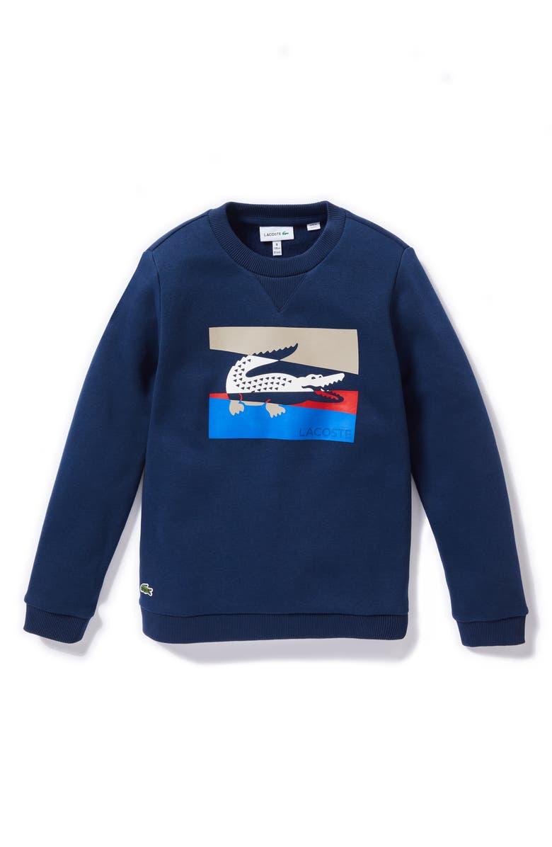 Lacoste Multicolor Animation Sweatshirt Big Boys