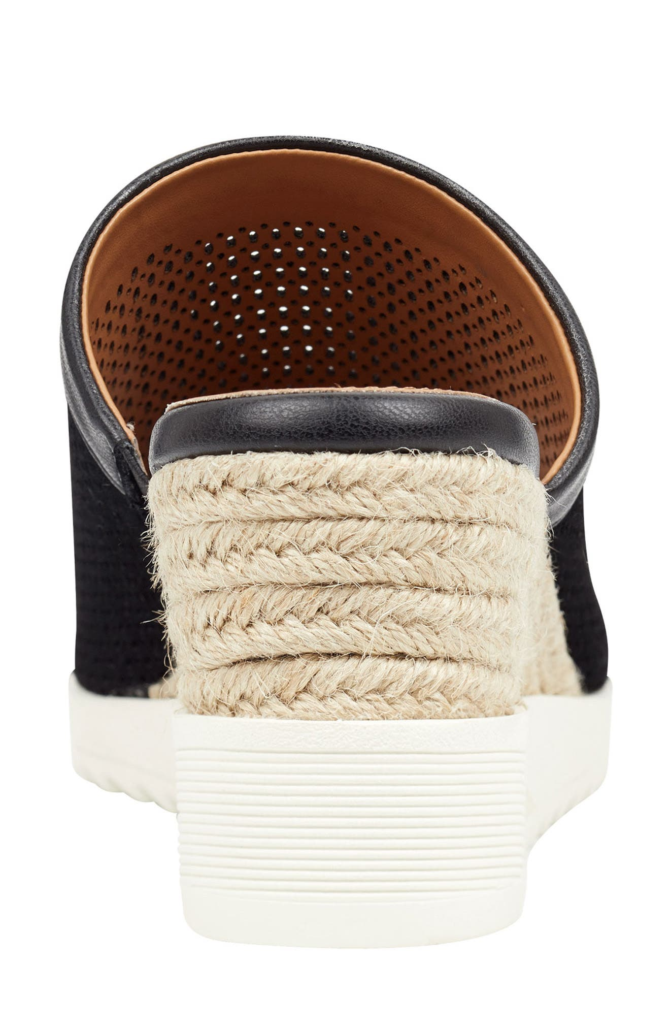,                             Zooey Wedge Slide Sandal,                             Alternate thumbnail 6, color,                             BLACK SUEDE