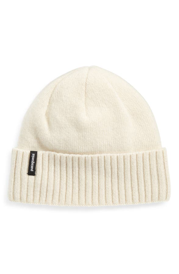 info for cheap price best price Patagonia Brodeo Wool Stocking Cap In Birch White | ModeSens