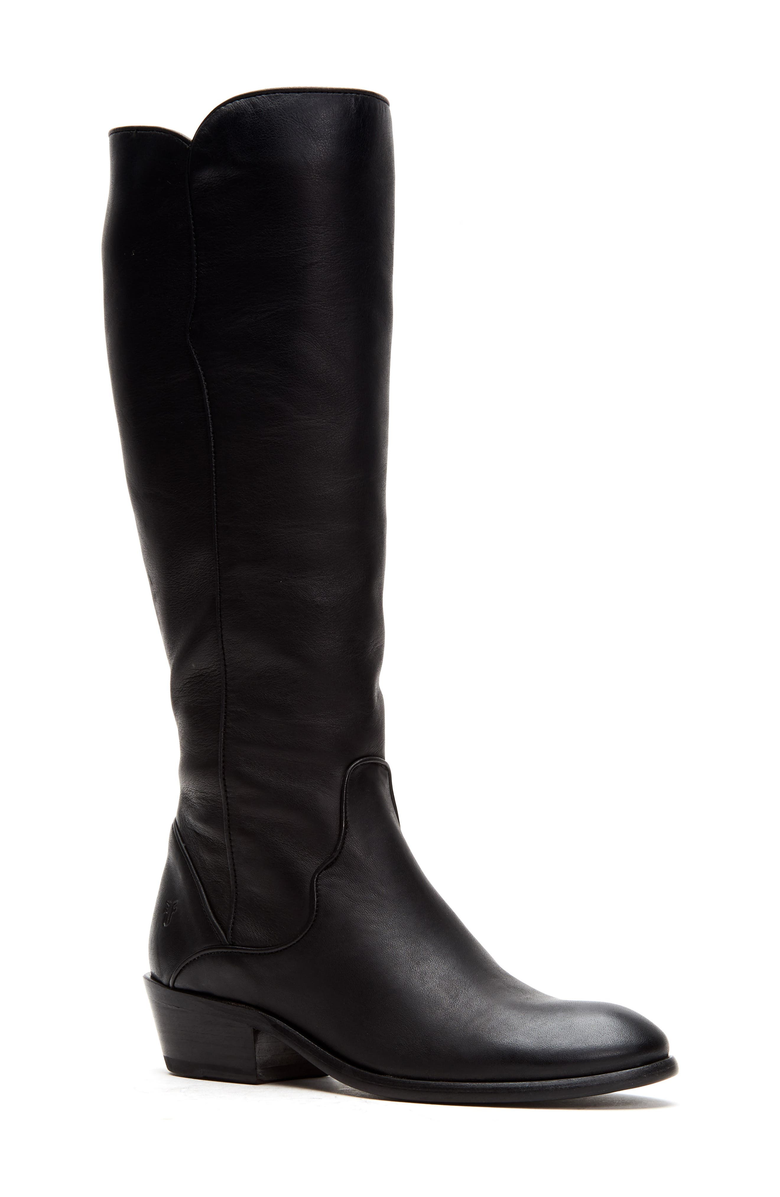 This knee-high boot made from soft full-grain leather exemplifies Western style with a modern twist. Style Name: Frye Carson Knee High Boot (Women). Style Number: 5947086. Available in stores.