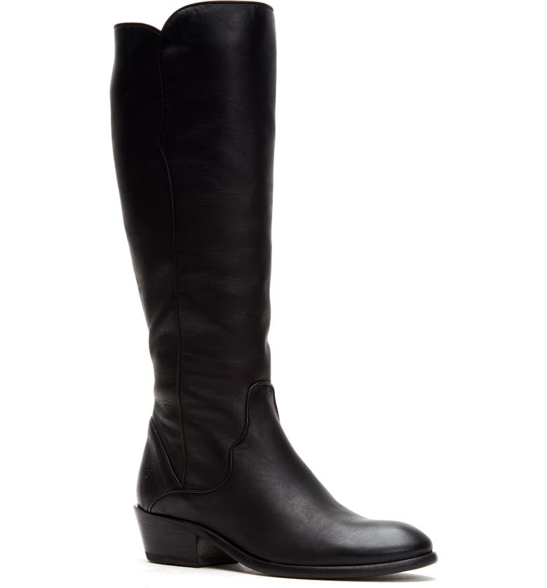 FRYE Carson Knee High Boot, Main, color, BLACK LEATHER