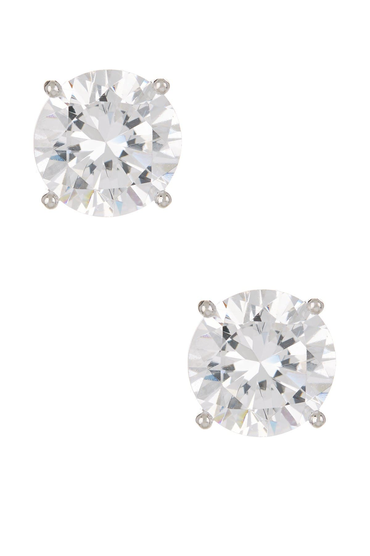 Image of Nordstrom Rack Round CZ Stud Earrings - 6.00 ctw