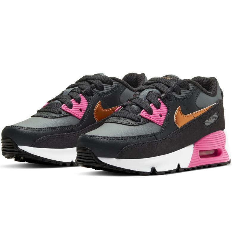 NIKE Air Max 90 Sneaker, Main, color, GREY/ METALLIC COPPER/ NOIR